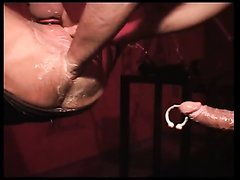 Leather dungeon fuck and fist party