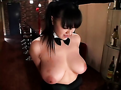 Busty Asian punched like a bag