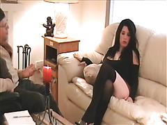 Kinky brunette used as a sex toy
