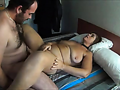 Chubby mature wife drilled on the bed