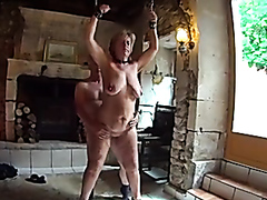 Bald guy drilling his mature wife