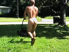 all my clothes were dirty, so i mowed the lawn naked