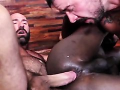 Interracial ass2mouth spit hairy hunks