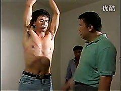 Chinese shirtless hunk torture