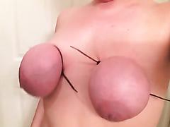 Massive tied up tits turn blue