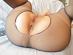 Slut stuffed in both holes