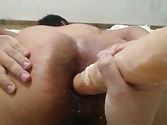 Huge dirty ass in Dildo fucking...