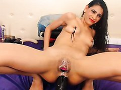Webcam Latina With Large Dildos Inside Her