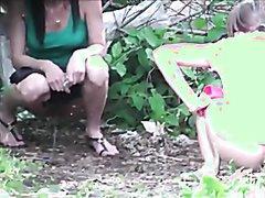 hotties peeing in the woods