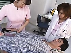 Spits treatment from nurse and doctor