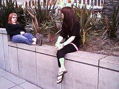 Lesbian public feet worship
