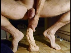 Long and deep dildo fuck