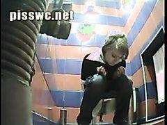 Girl poop in public toilet 49