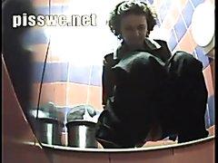 Girl poop in public toilet 51