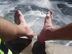 Feet at the hot tub