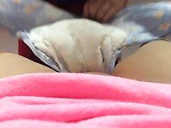 Pov girl getting diaper change