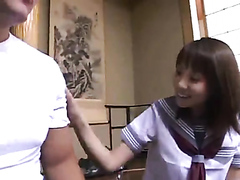 Japanese schoolgirl likes to have fun after class