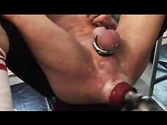 Extreme anal double fisting action