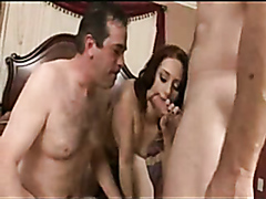 Cock sucker joins in on a threesome