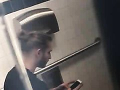 HAF guy jerking in the toilet