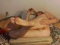 Ass-to-Mouth anal dildo masturbation by Mark Heffron
