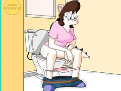 Toilet girl animation 1