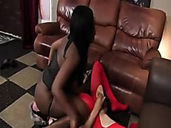 thicc black babe uses old white slave