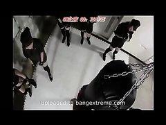 Japanese Femdom beating kicking