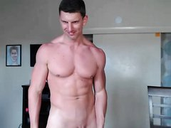 Daddy Cams with Someone and Eats His Own Cum