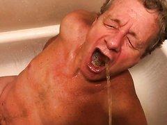 White trash Human Urinal for Black Men Only