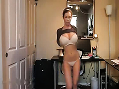 Girl with a perfect body teasing