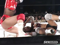 Sexy Japanese wrestlers having fun