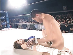 Japanese slut drilled hard in the ring