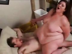 Skinny guys fucking huge fat girls