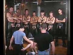 Leather fuck orgy