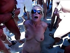 Cap D'Agde nude blowbang video 2