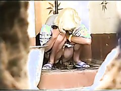 Girl poop in public toilet 57