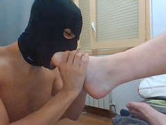 Another desperate foot boy.
