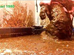 Fun in cow slurry