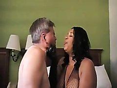Ebony bbw burping in white slave's face