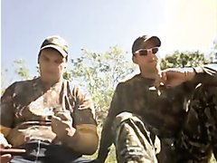 Two more straight buds in camo gear smoke big cigars (2013)