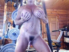 Muscle MILF Show Off Her Pumped Clit