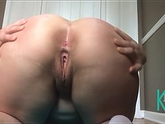 PAWG Bends Over And Spreads Her Cheeks