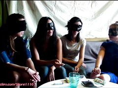 4 girls pooping on the slave