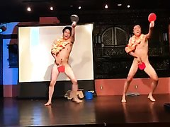 Naked asian guys dance