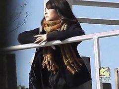 Jaapanese girls taking emergency shits in public