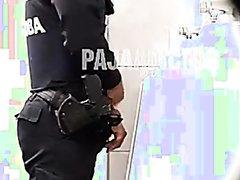 SPY BATHROOM POLICE PISSING