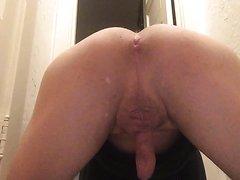 Skinny boy takes sexy dump