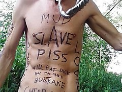 humiliated slave in the woods and in a swamp