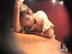 Japanese girl puking in bar